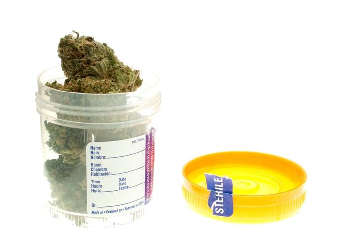 marijuana in jar